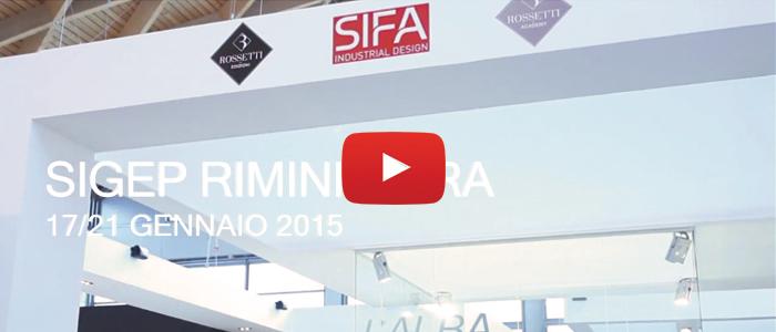Video rossetti edizioni e sifa al sigep 2015 for Sifa arredamenti