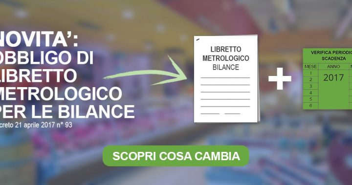 libretto metrologico bilance verifica periodica 2017